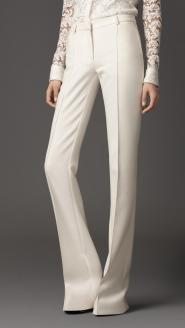 Burberry-London-cotton-blend-flared-trousers-1