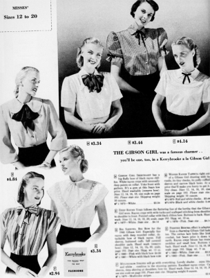 gibson-girl-blouses-with-bows-1948