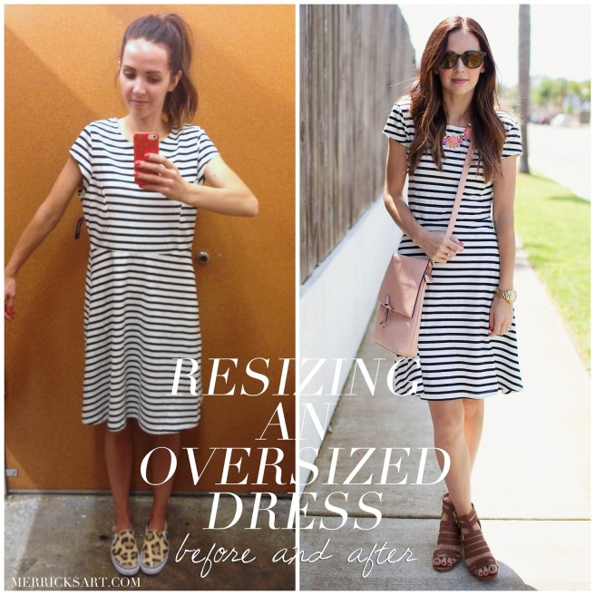 Oversized Striped Dress Refashion