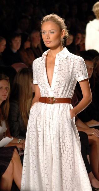 9dsgti-l-610x610-dress-modern+classic-white+dress-day+dress-lace+dress-belted+dress-summer+dress-spring+dress-collared+dress-button+dre