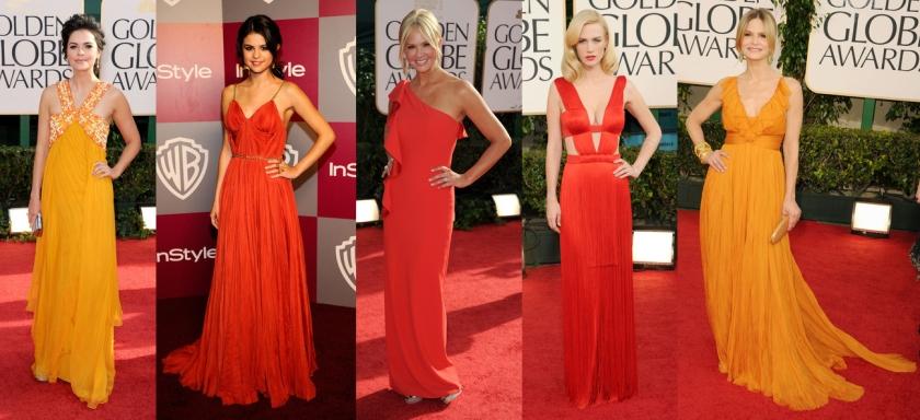 golden-globes-2011-orange-gowns-red-carpet