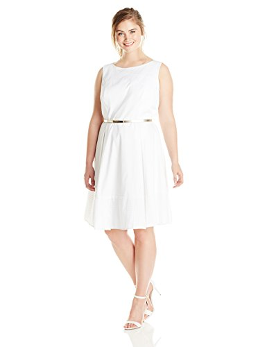 Calvin-Klein-Womens-Plus-Size-Eyelet-Insert-Fit-and-Flare-Dress-0
