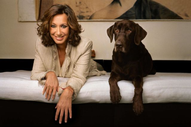 donna karan and her dog